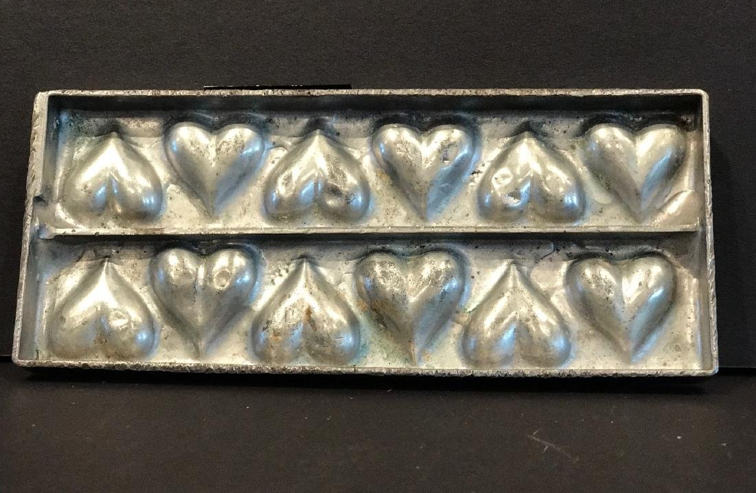 "Twelve Heart  ""Flattie"" Chocolate Mold, C. 1920"