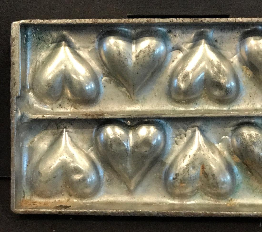 "Twelve Heart  ""Flattie"" Chocolate Mold, C. 1920 - 2"