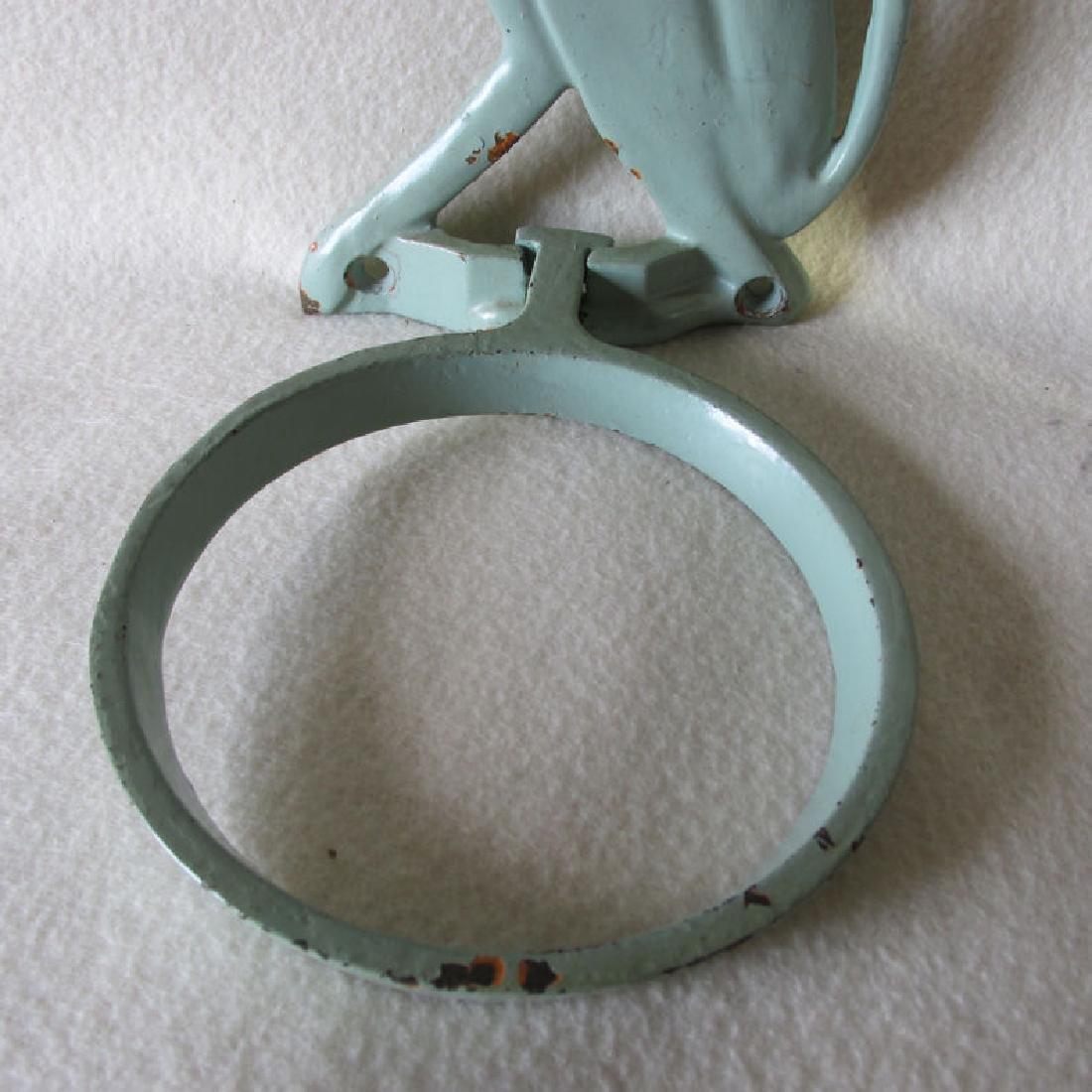 Whimsical Art Deco Dog Plant Holder, Cast Iron Bracket - 4