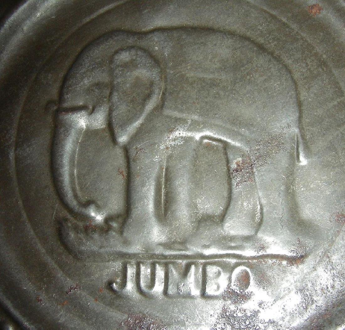 Child's Tin ABC Alphabet Plate Jumbo the Elephant 1880 - 3