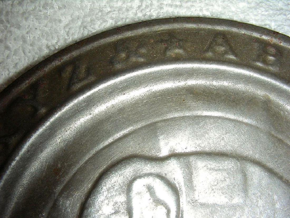 Child's Tin ABC Alphabet Plate Jumbo the Elephant 1880 - 4
