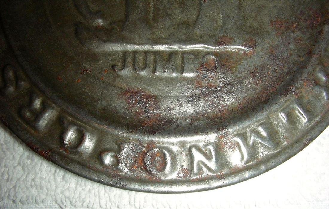 Child's Tin ABC Alphabet Plate Jumbo the Elephant 1880 - 5
