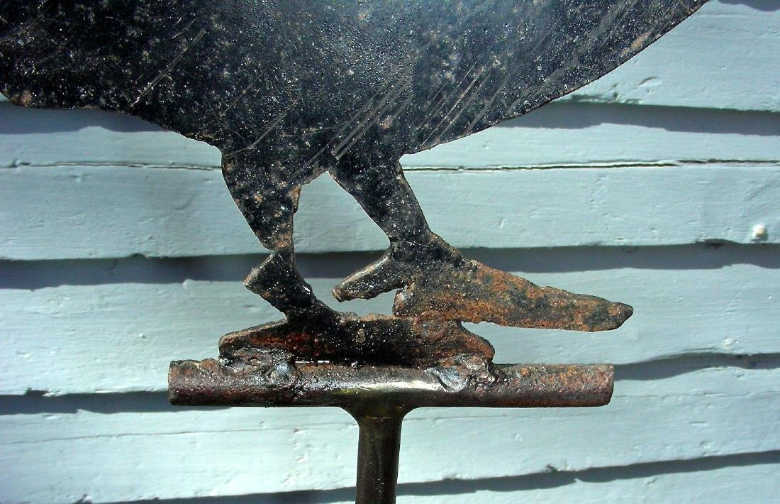Small Sheet Metal Rooster Weathervane, Original Surface - 8