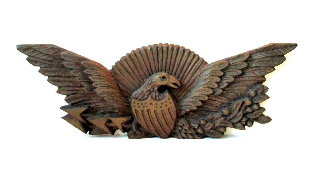 Early Carved Eagle Wall Plaque