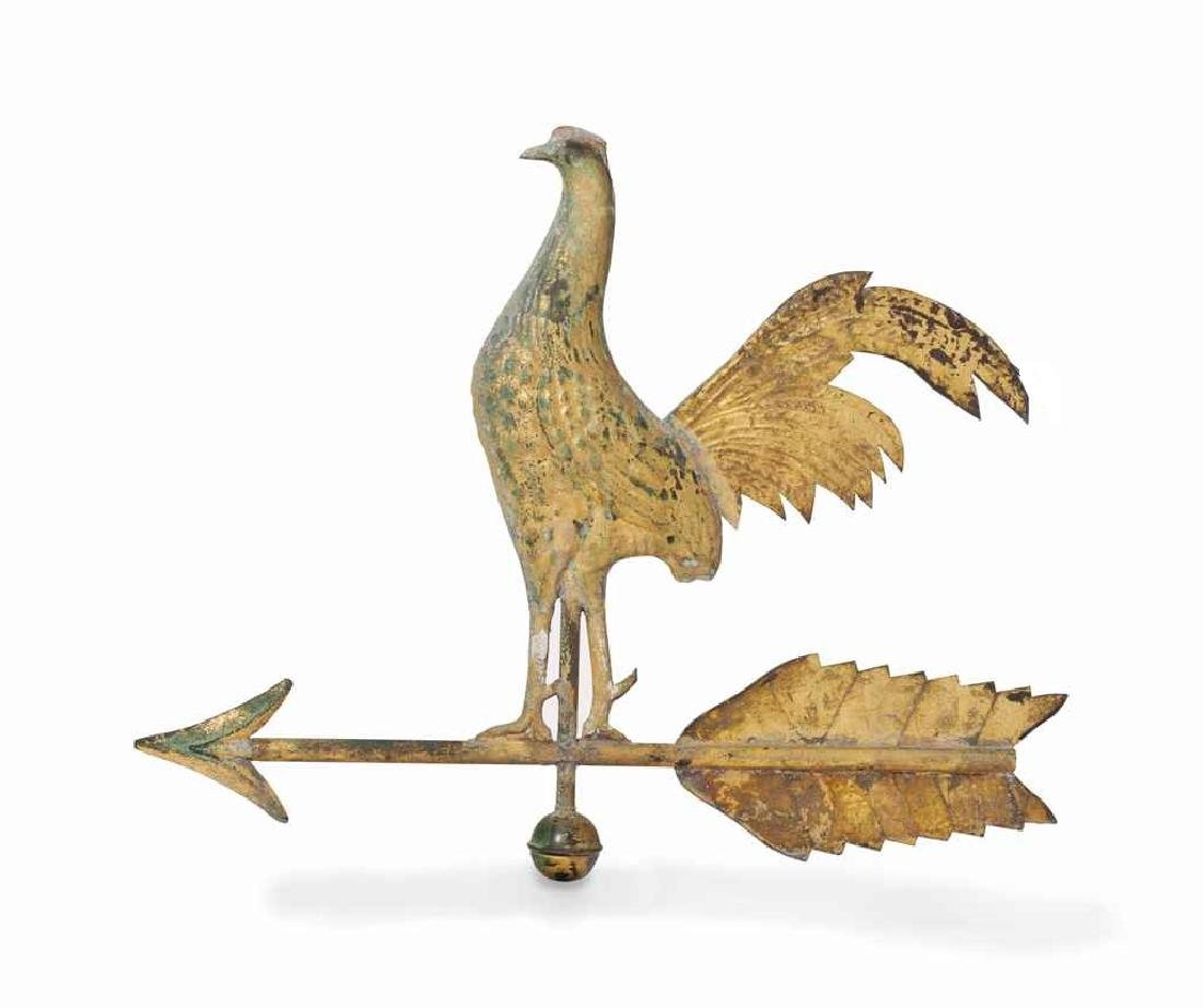 American Molded Copper Gamecock Weathervane