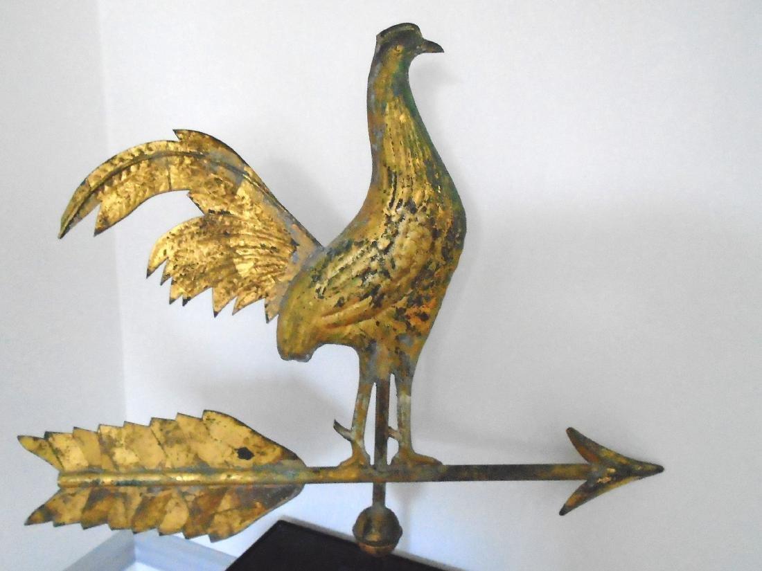 American Molded Copper Gamecock Weathervane - 2