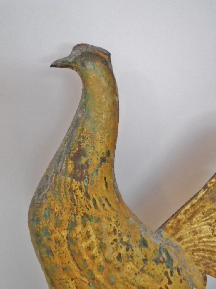 American Molded Copper Gamecock Weathervane - 7