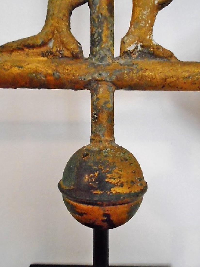 American Molded Copper Gamecock Weathervane - 9