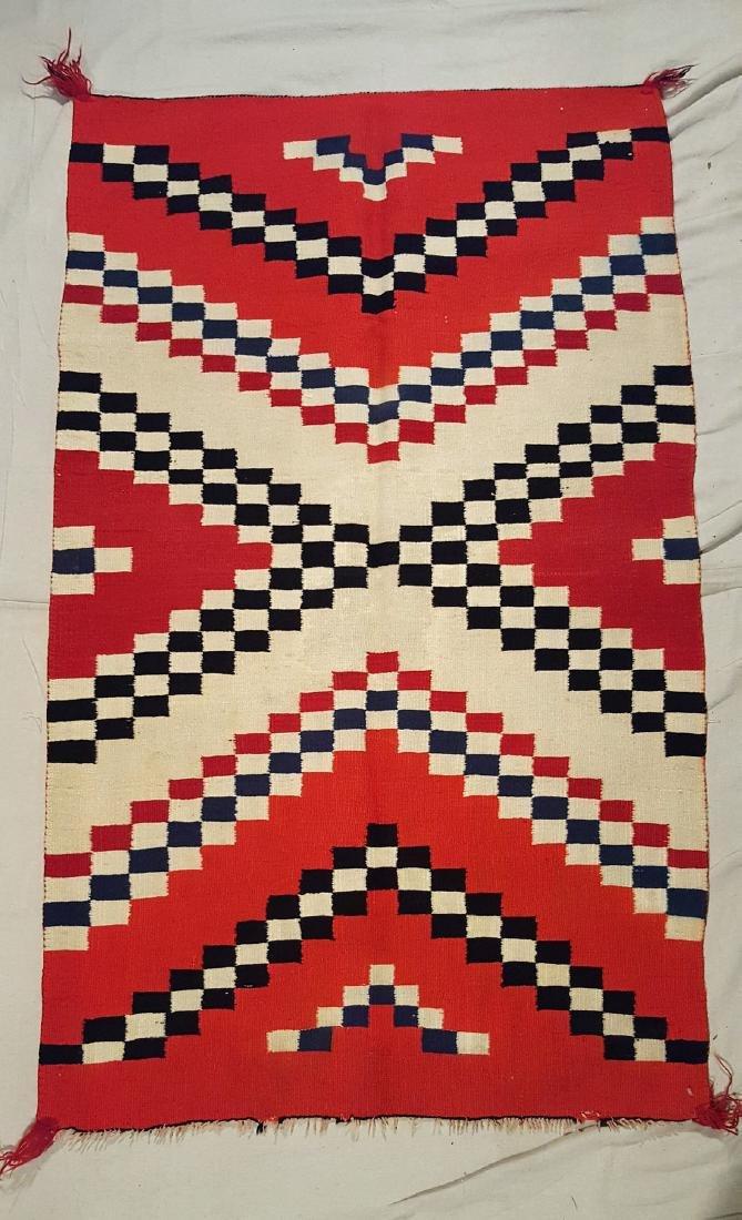 Navajo Woven Germantown Woman's Blanket Ca 1900.