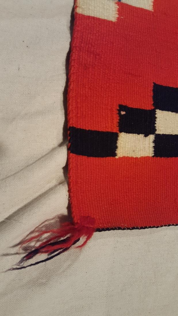 Navajo Woven Germantown Woman's Blanket Ca 1900. - 3