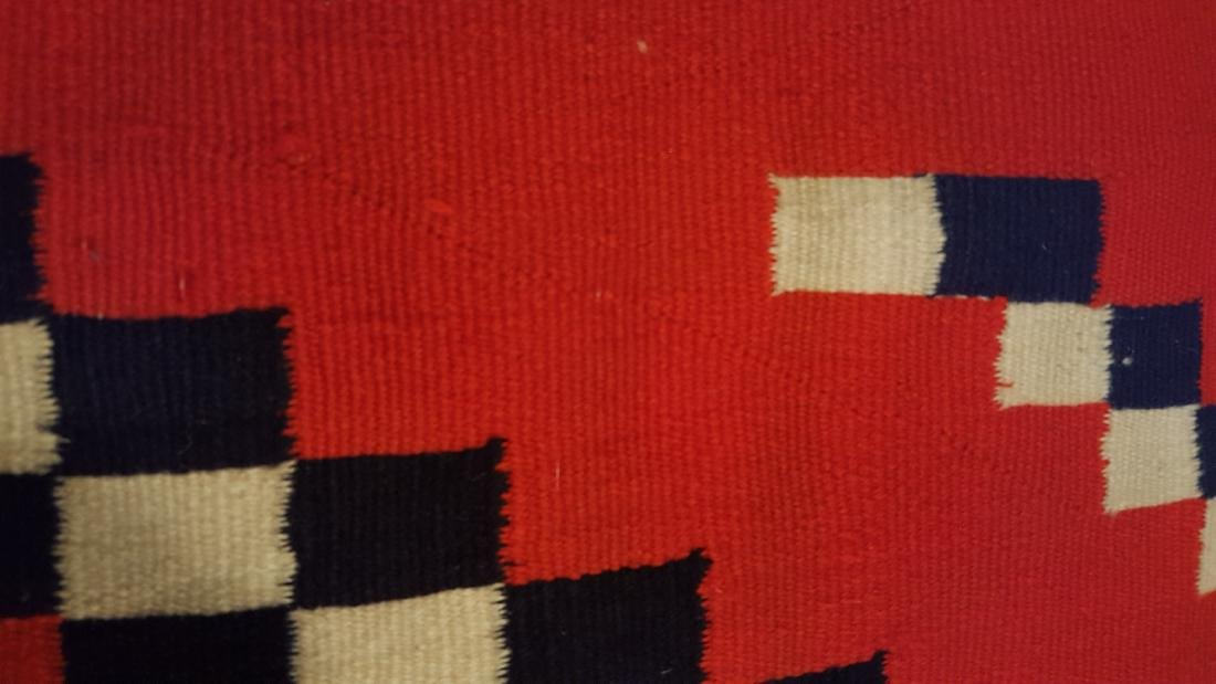 Navajo Woven Germantown Woman's Blanket Ca 1900. - 4