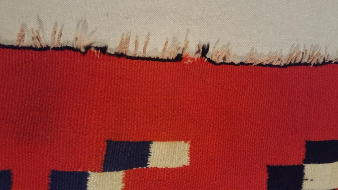 Navajo Woven Germantown Woman's Blanket Ca 1900. - 6