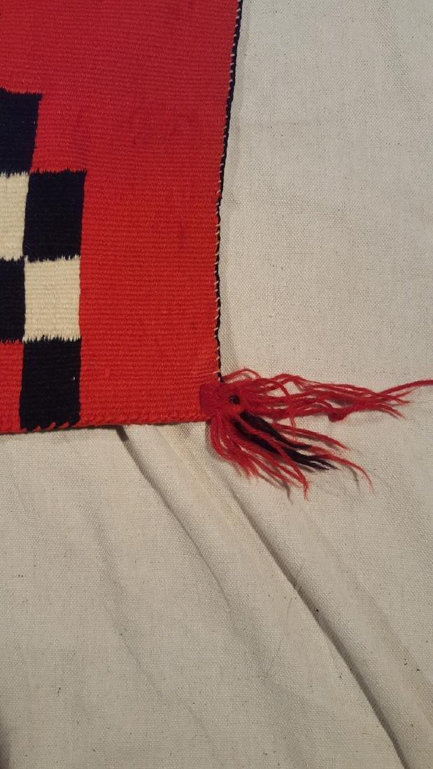 Navajo Woven Germantown Woman's Blanket Ca 1900. - 8