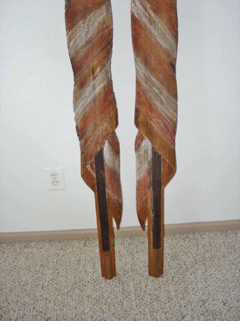 Unique Carved Pair of American Flags - 2