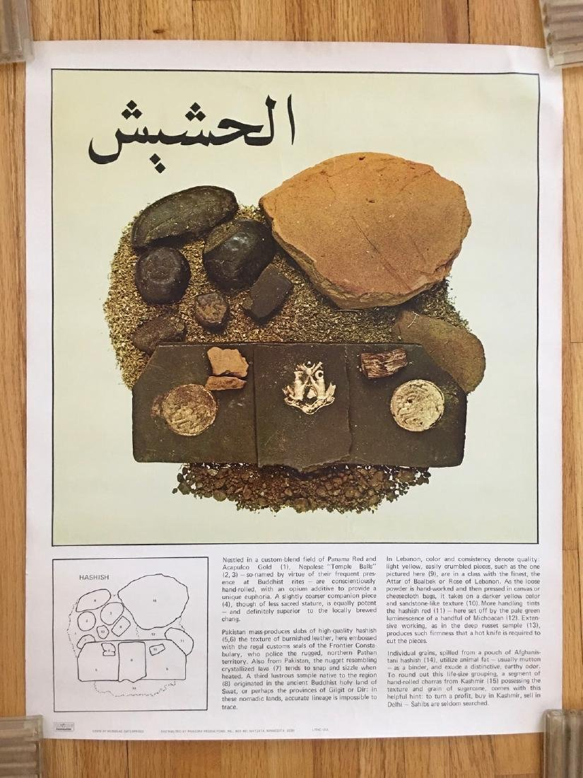 Super Rare HASHISH Poster - Pandora Prod.