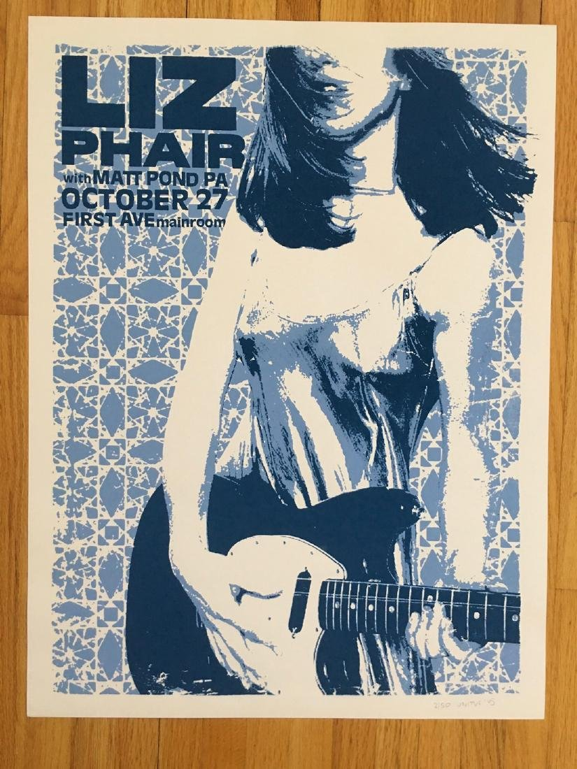LIZ PHAIR at First Ave Screen Print - Signed and #'ed