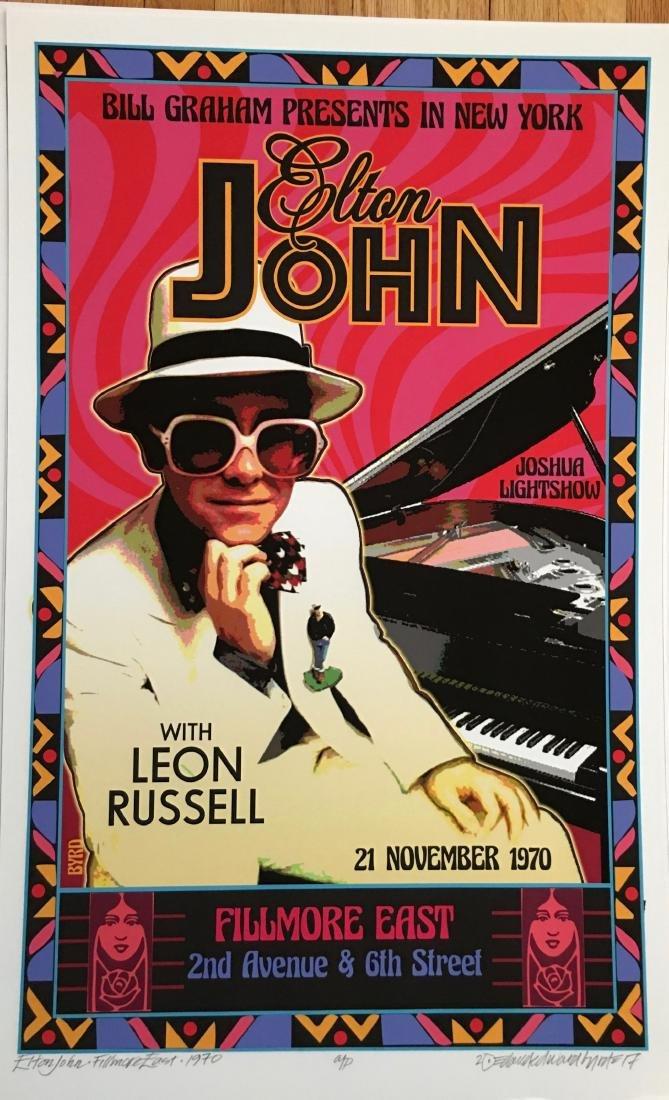 DAVID BYRD - Elton John - Signed Artists Proof