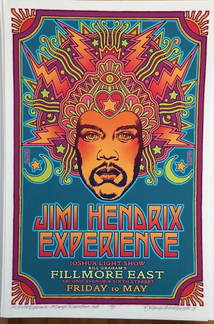 DAVID BYRD - Jimi Hendrix - Signed Artists Proof