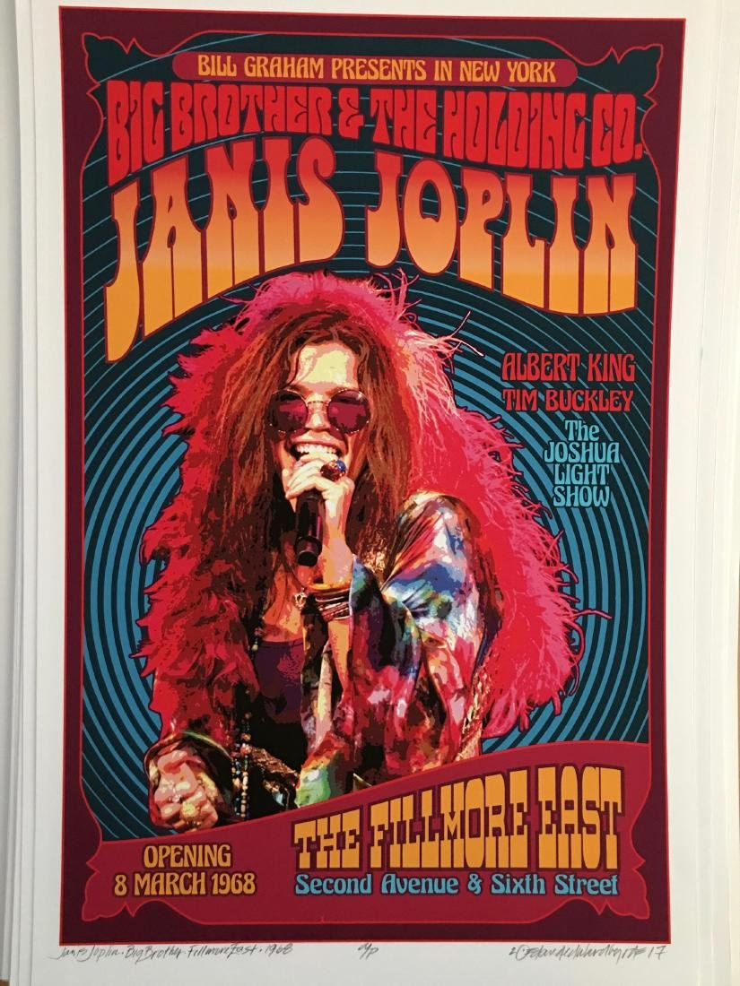 DAVID BYRD - Janis Joplin with Big Brother - Signed