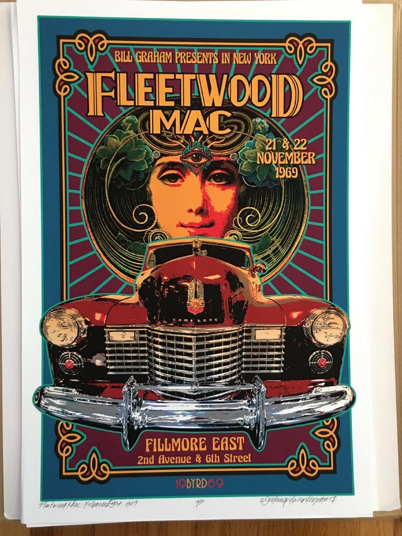 DAVID BYRD - Fleetwood Mac - Signed Artists Proof