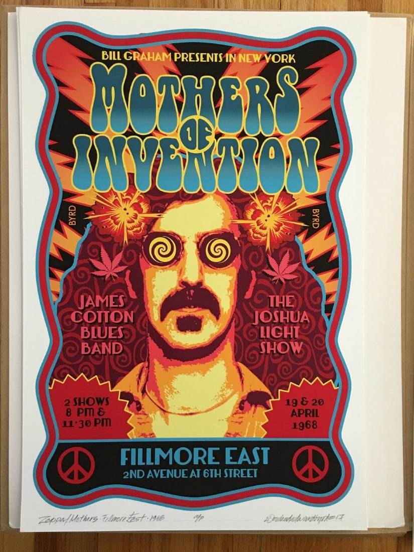 DAVID BYRD - Frank Zappa and the Mothers - Signed