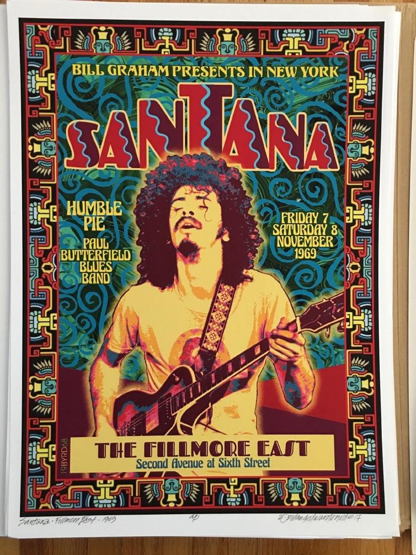 DAVID BYRD - Santana - Signed Artists Proof