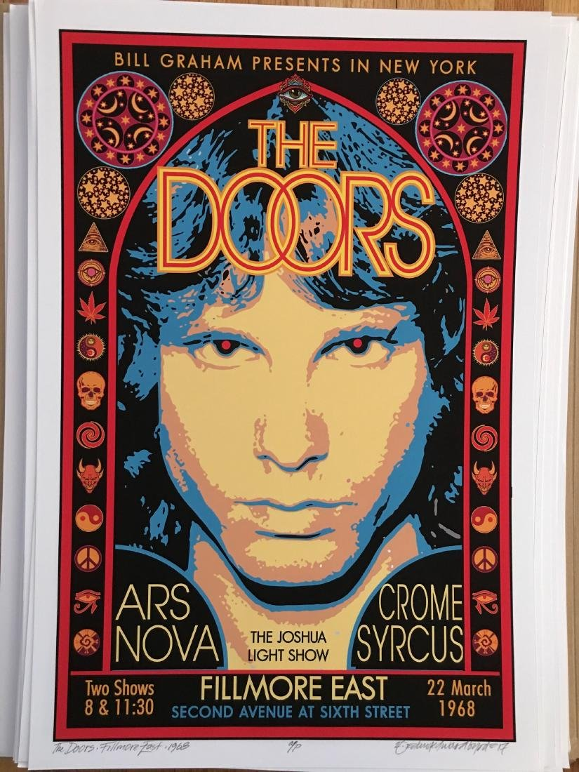 DAVID BYRD - The Doors - Signed Artists Proof