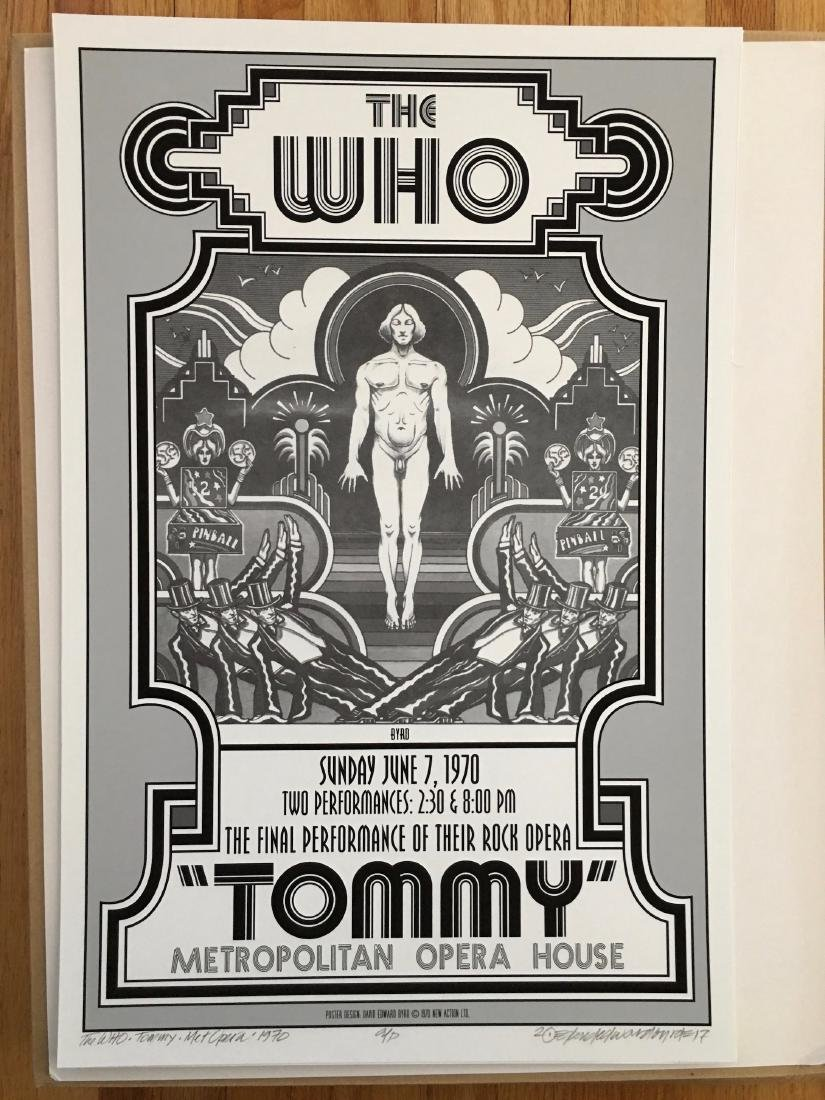 DAVID BYRD - Tommy - The Who - Signed Artists Proof