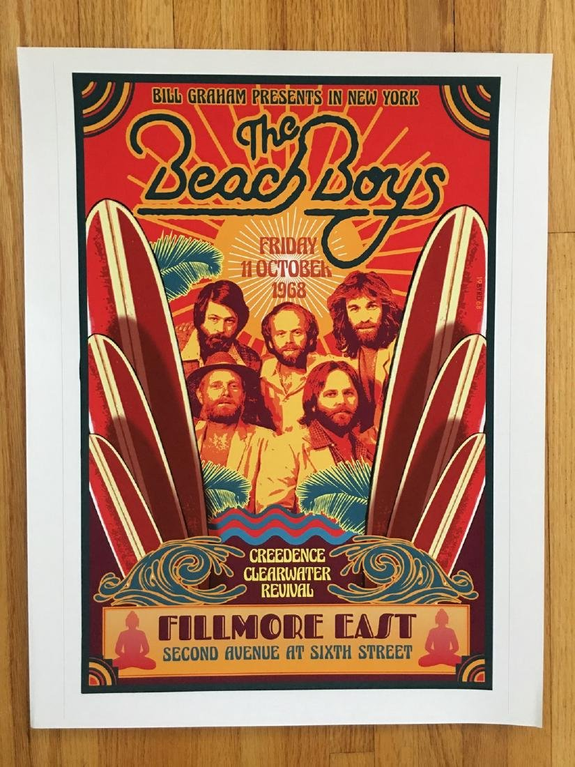 DAVID BYRD - Beach Boys Unsigned Test Print