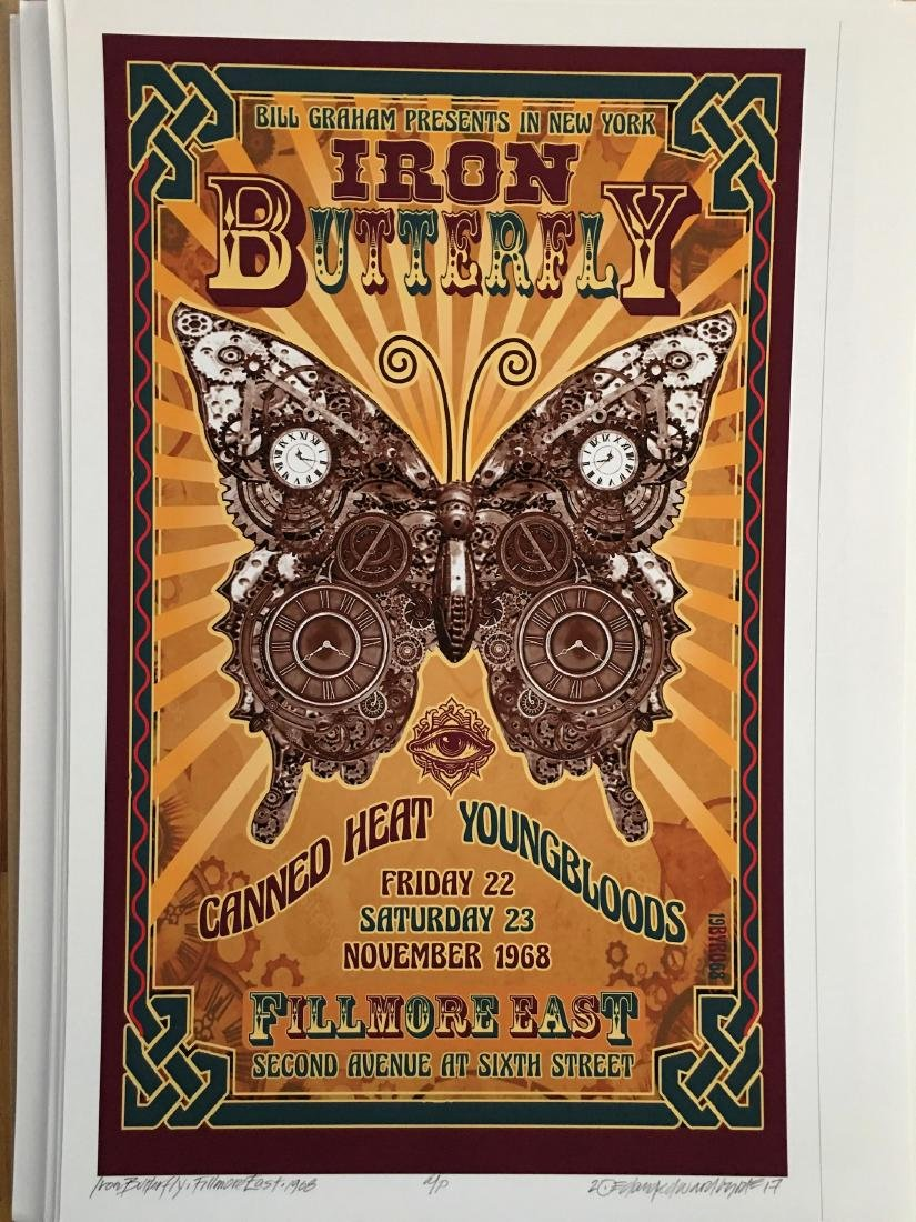 DAVID BYRD - IRON BUTTERFLY - SIGNED POSTER