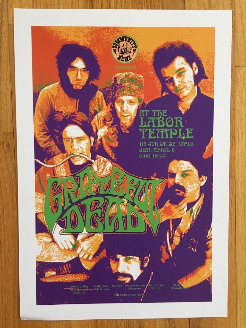 GRATEFUL DEAD POSTER at the Labor Temple ! ! !