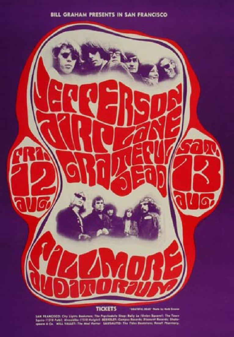 Jefferson Airplane Postcard - BG23