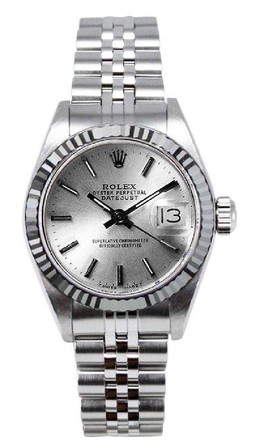 Rolex Women's Datejust Stainless Steel Silver Index