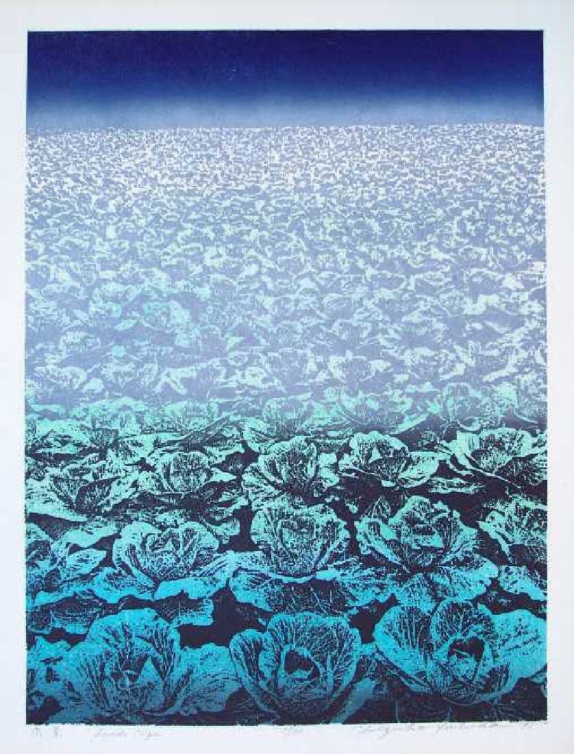 Chizuko Yoshida Woodblock Landscape