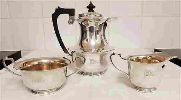 Elkington & Co 3 Piece Silver Plated Tea Coffee Set
