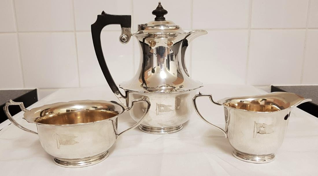 Elkington & Co 3 Piece Silver Plated Tea Coffee Set