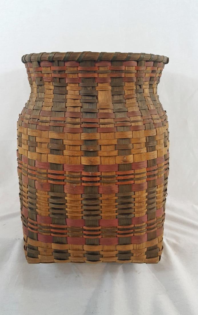 Native Cherokee split ash basket ca 1920.