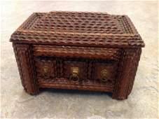 Antique Folk Art tramp art box