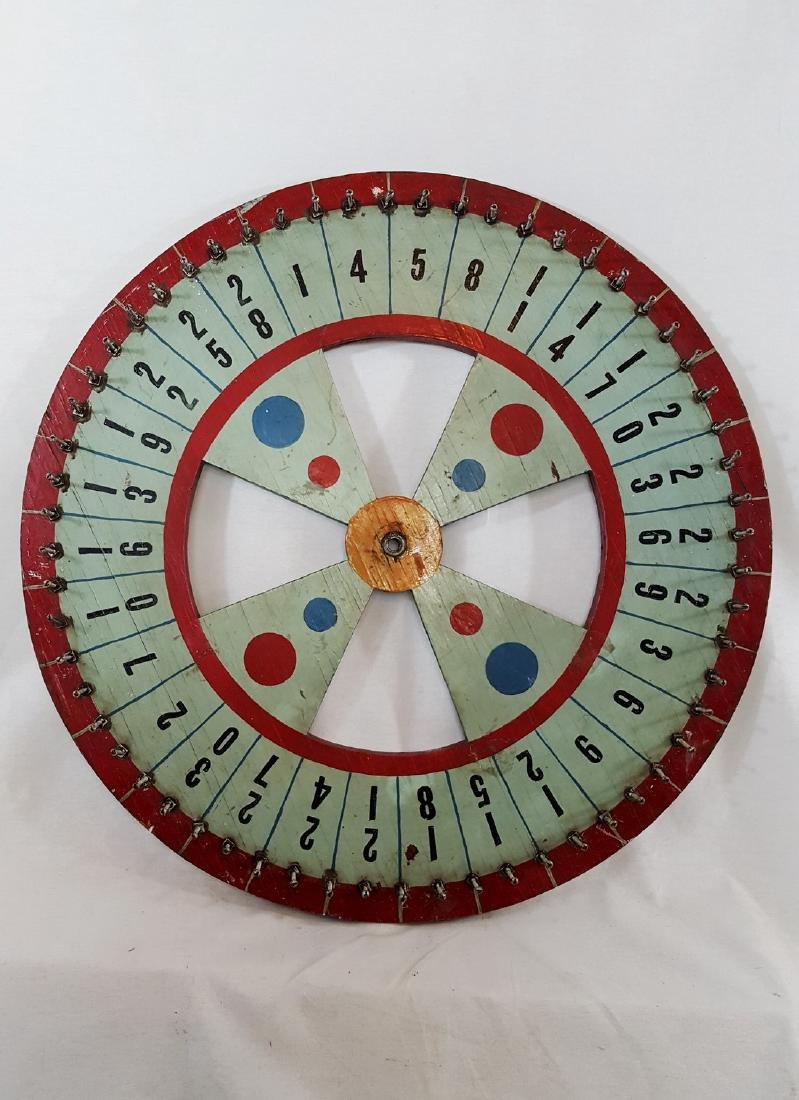 Painted game wheel ca 1940's.