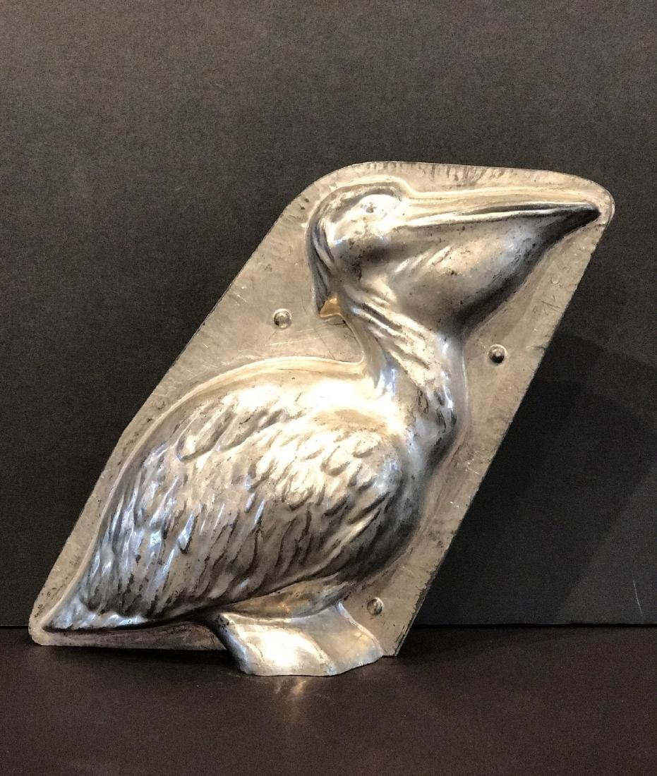 Pelican chocolate mold, early 20th c
