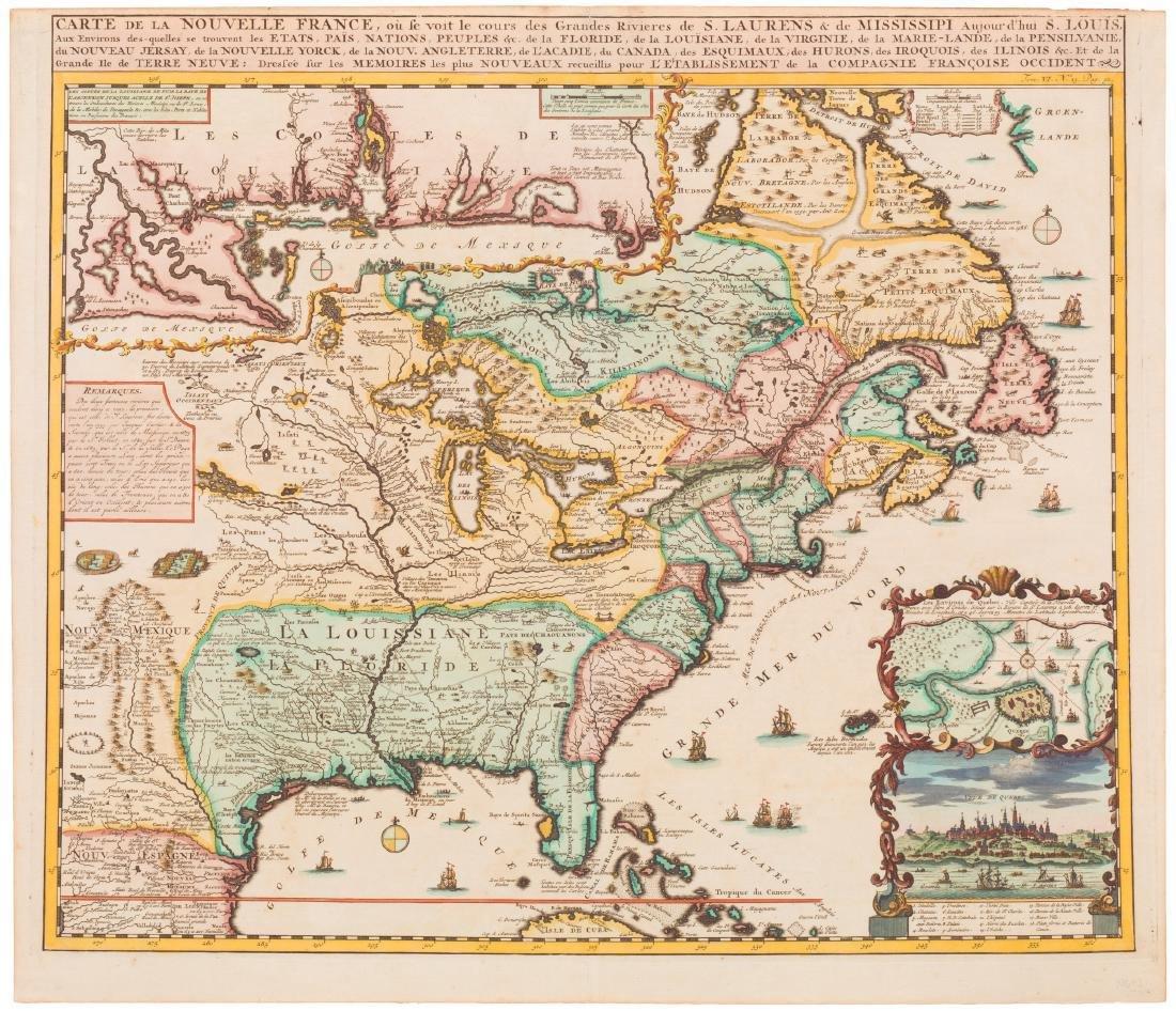 1719 H. Chatelain - Carte de la Nouvelle France...