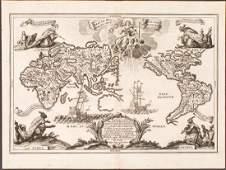 1703 Scherer  World Map California as an Island