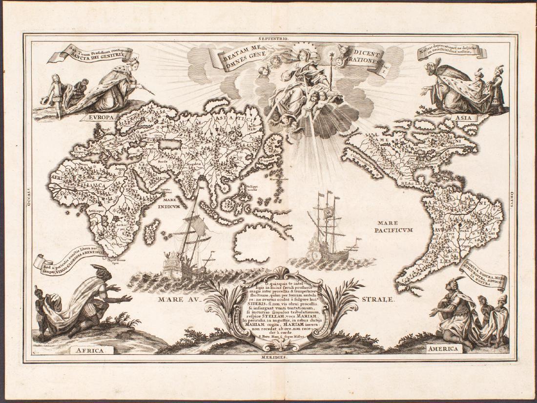 1703 Scherer - World Map [California as an Island]