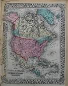 1878 Mitchell Map of North and Central America -- Map