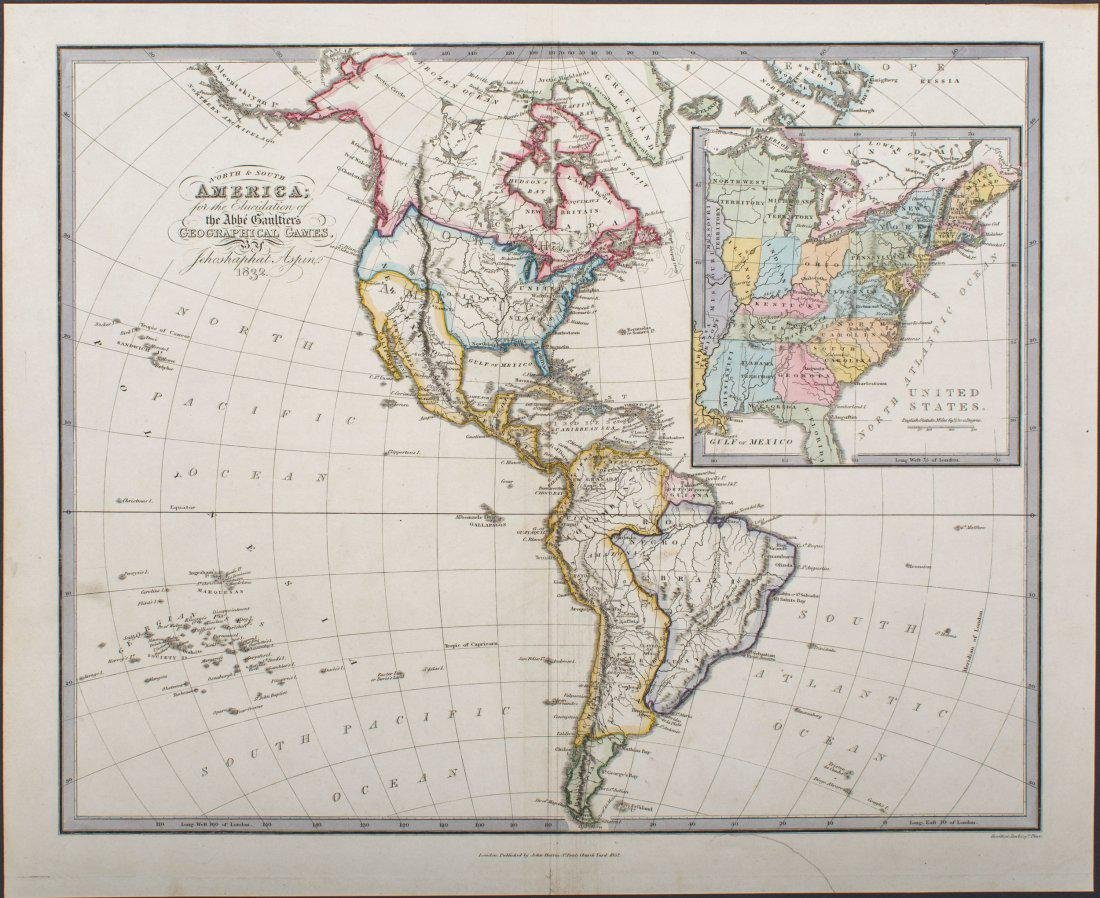 1832 Aspin - North & South America...[proposed state of