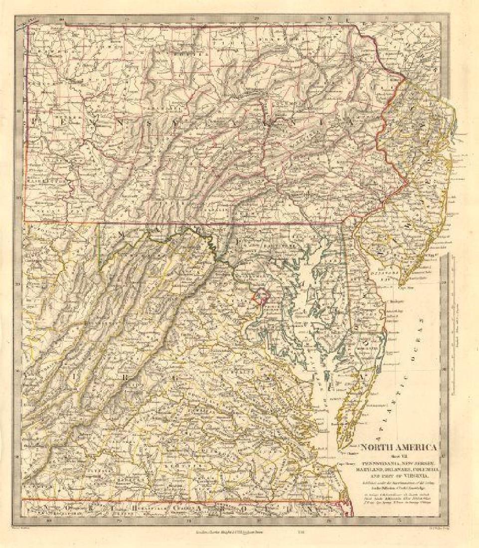USA. Pennsylvania New Jersey Maryland Delaware DC