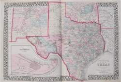 1878 Mitchell Map of Texas -- County Map of the State