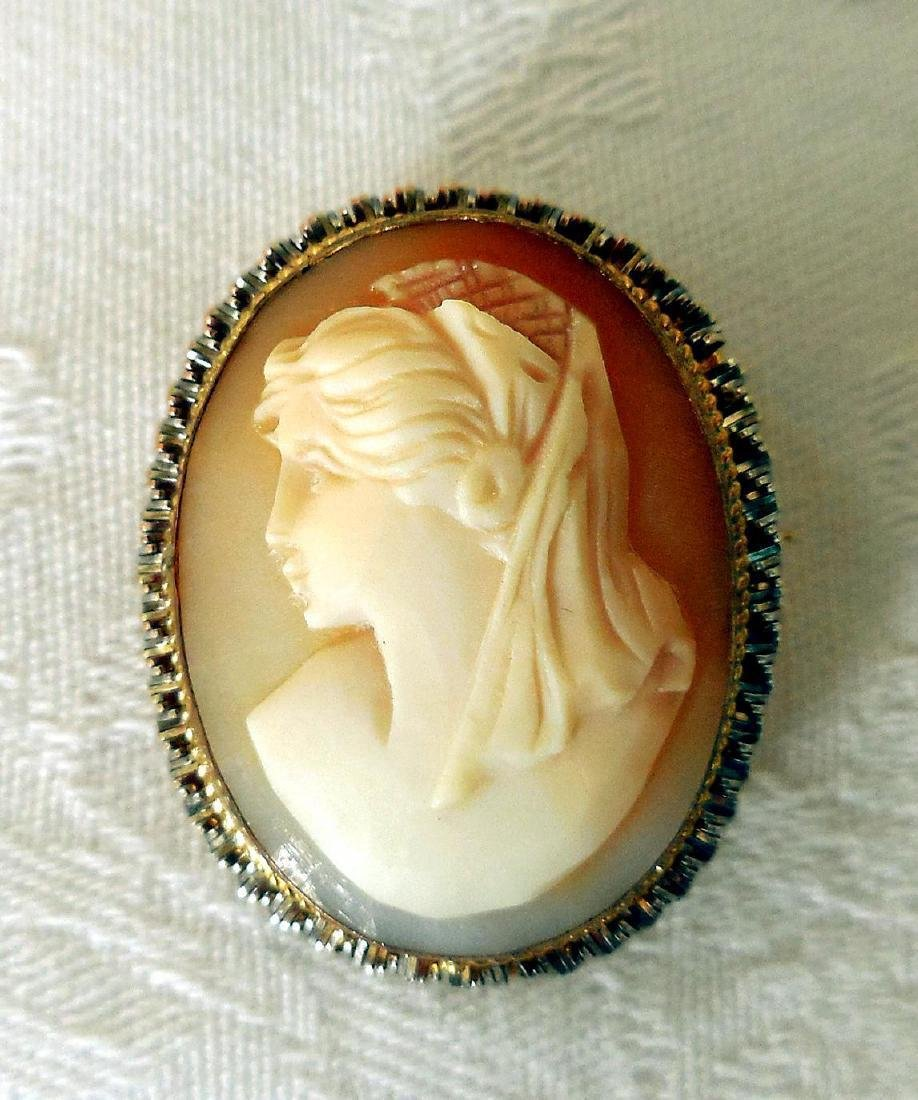 Edwardian Carved Shell Cameo