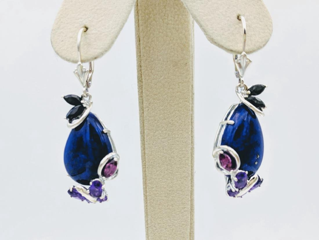 Sterling Silver Lapis Lazuli Earrings with Blue