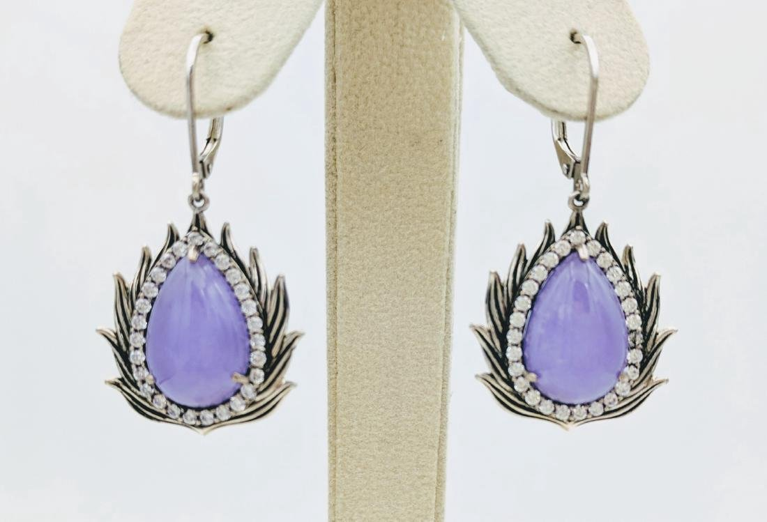 Sterling Silver Dangling Imperial Designed Earrings